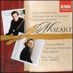 Mozart: Conciertos para flauta, K 313; para flauta y arpa, K 299; para clarinete, K 622