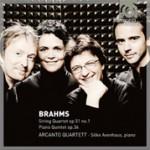 Brahms: Quinteto con piano, opus 34; Cuarteto de cuerdas, opus 51, nº 1