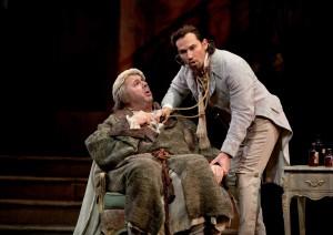 John del Carlo y Mariusz Kwieczien en los roles de Don Pasquale y Malatesta, respectivamente.