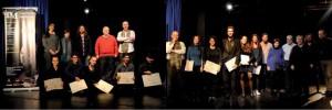 En la fotografía de la izquierda, los ganadores de Grado Profesional y los miembros del Jurado. A la derecha, junto con los ganadores de Grado Superior.