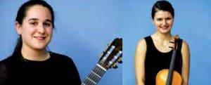 A la izquierda, Sara Guerrero, Tercer Premio. Derecha, Yana Kucherova, Mejor Intérprete de cuerda