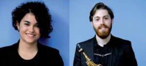 A la izquierda, Julia Ramos, Mejor intérprete de percusión. Derecha, Miguel Vallés, Mejor intérprete de viento-madera y Mejor intérprete de música contemporánea