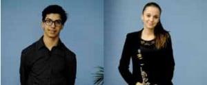 A la izquierda, Guillermo Muñoz, Segundo Premio. A la derecha, Lidia Tejero,Tercer Premio