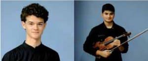 A la izquierda, Gorka Plada, Mención especial. Derecha, Joel Doraci, Premio Especial Mejor intérprete de cuerda