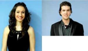 A la izquierda, Marta Estal, Primer Premio de Grado Superior. Derecha, Alejandro Arango, Segundo Premio
