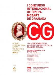 Cartel del I Concurso Internacional de Ópera Mozart Granada