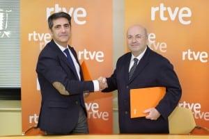 Manuel Ventero y Diego Martinez, responsables de RTVE y del FIMDG llegan a un acuerdo