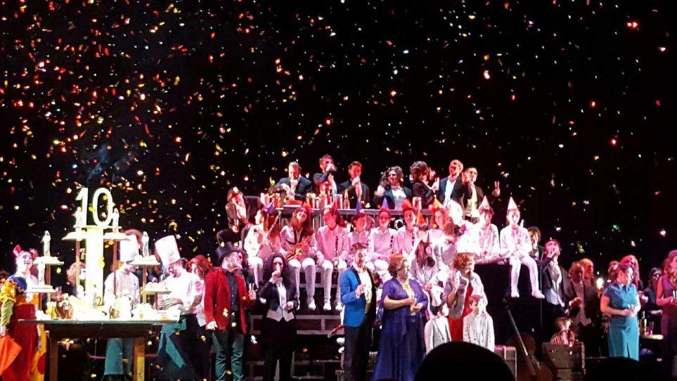 Brindis final de los X Premios Líricos Teatro Campoamor