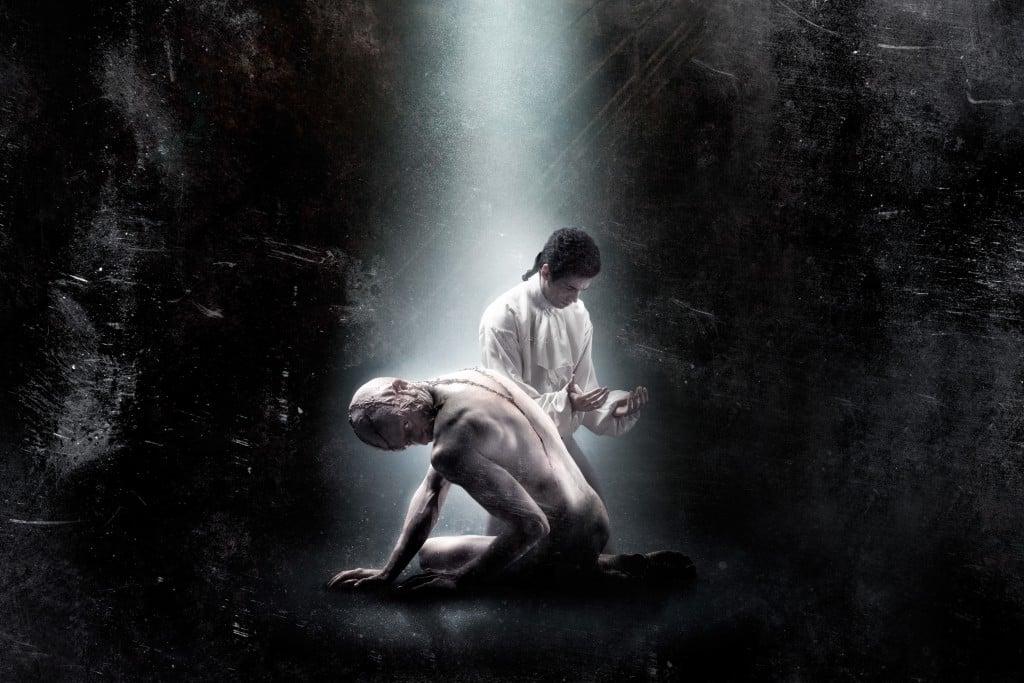 El doctor Victor Frankenstein y su criatura