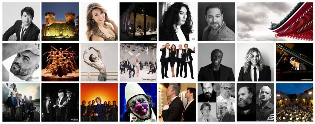 Collage de los artistas que participarán en el Festival Castell Peralada