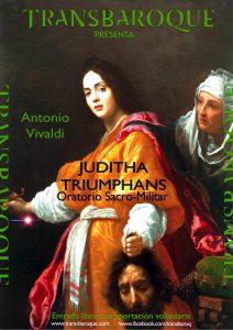 Cartel del Juditha Triumphans de Vivaldii interpretada por Transbaroque.