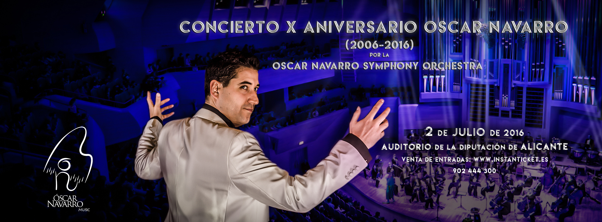 Cartel del concierto por el décimo aniversario de Óscar Navarro.
