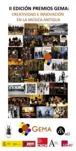Cartel premios GEMA de Musica Antigua 2016