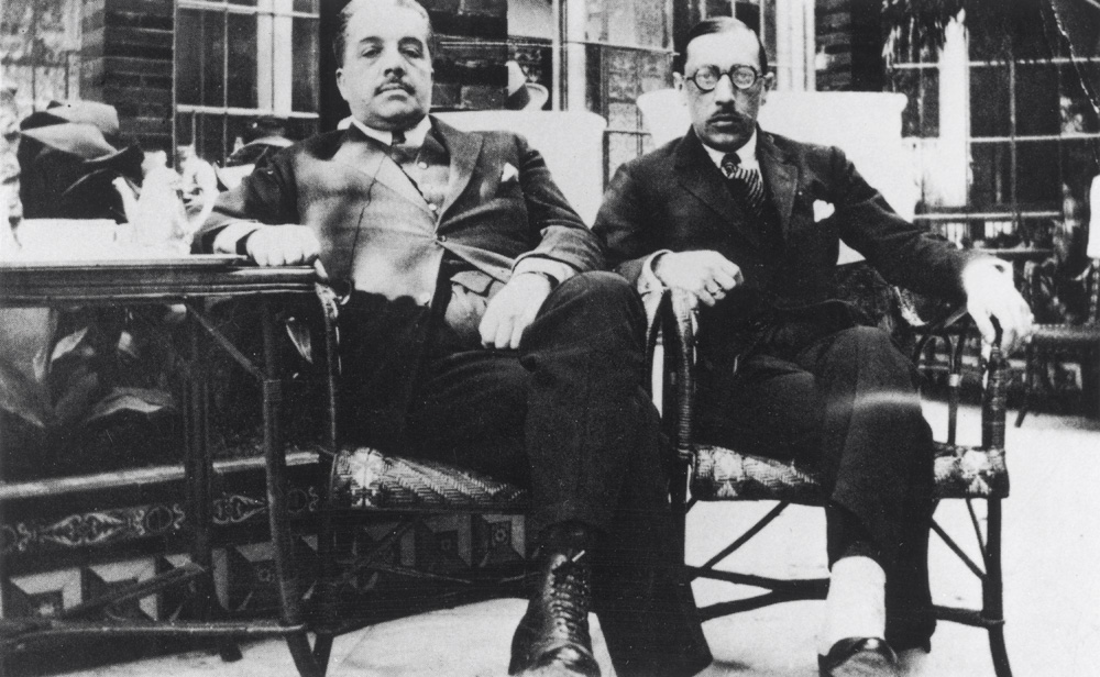 Diaghilev y Stravinsky en España en 1921.