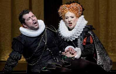 Luc Robert como Don Carlo y Sussana Braunsteffer como Isabel de Valois.