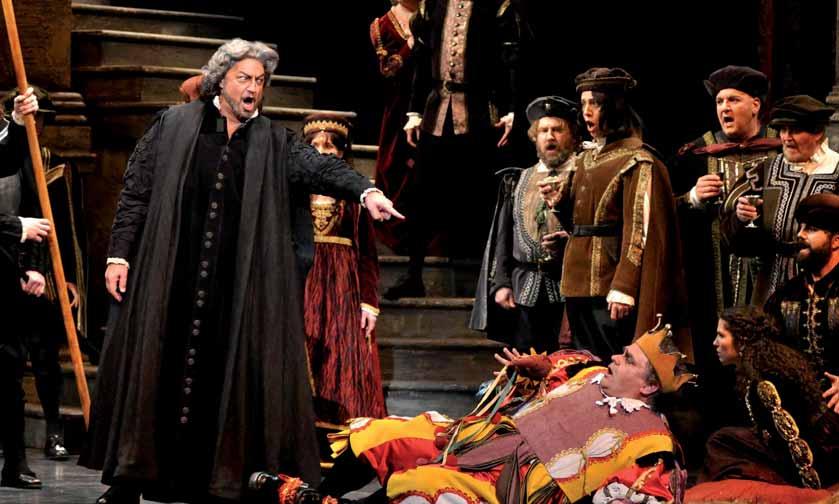 Rigoletto en otra escena de la ópera