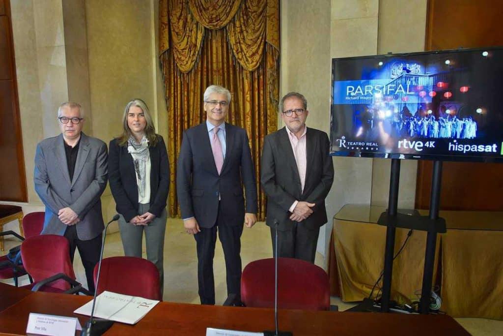 Teatro Real, RTVE e Hispasat en la presentación de la grabación de Parsifal en 4K.
