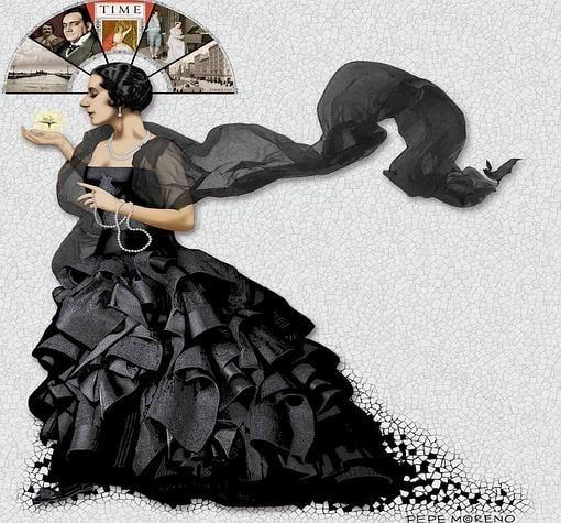 Cartel de Lucrezia Bori. En la nueva temporada del Palau de les Arts Reina Sofia