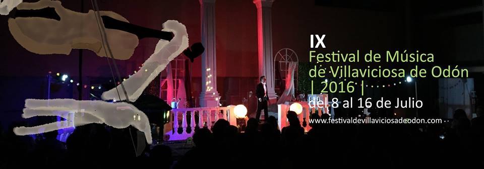 Cartel del IX Festival de Música de Villaviciosa de Odón