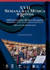 Cartel del festival de Música de Ronda 2016