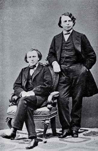 Johannes Brahm y Joseph Joachim