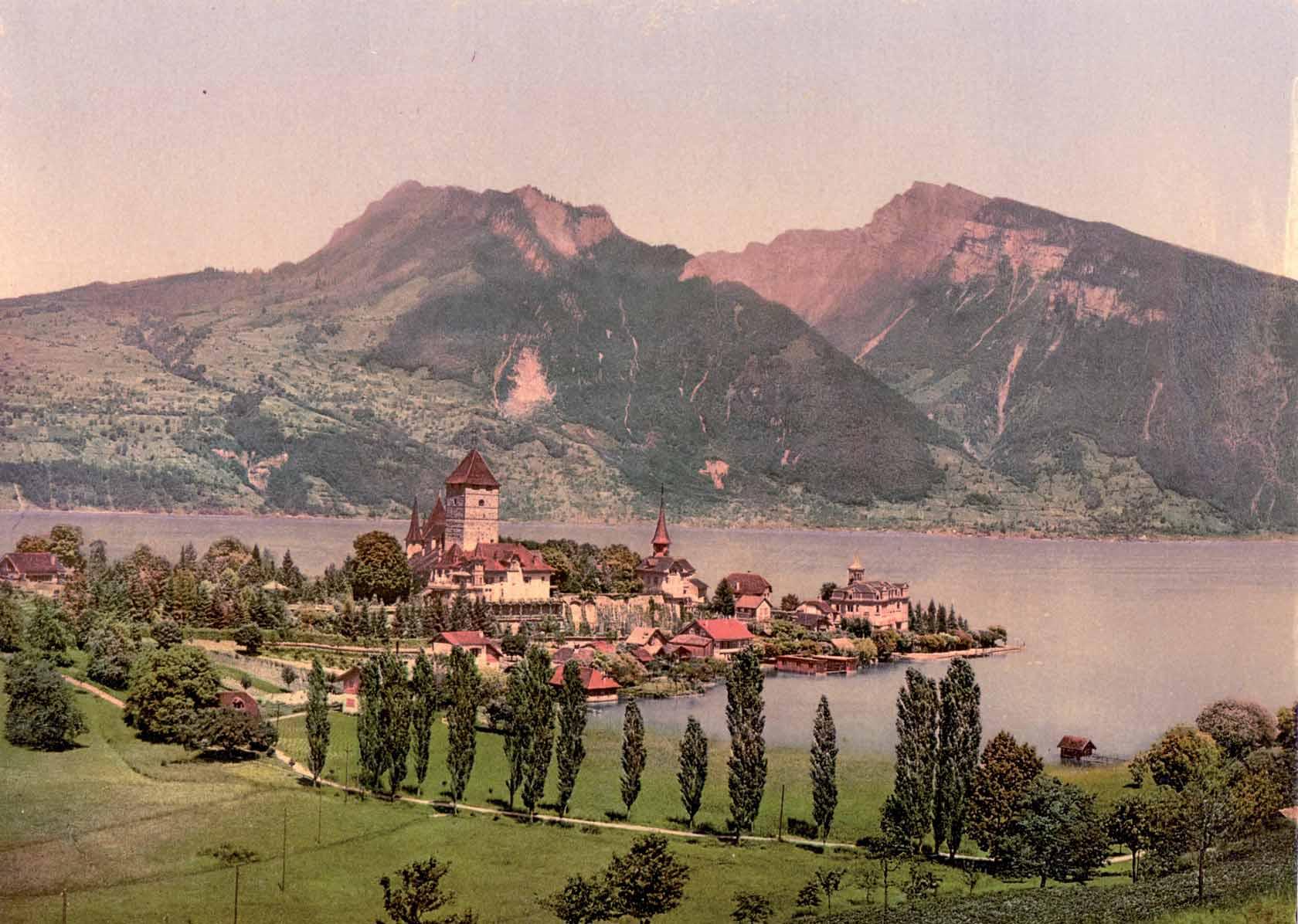 Lago Thun, alrededor de 1900