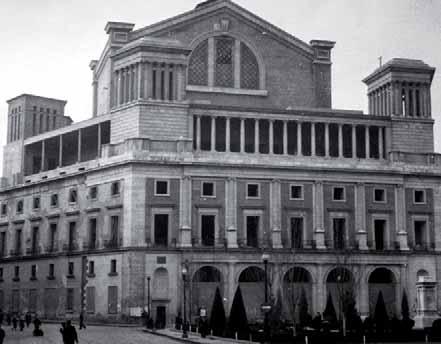 El Teatro Real en 1950.