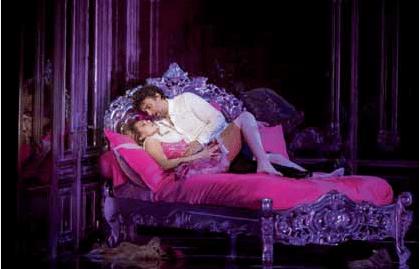 Kristine Oploais y Jonas Kauffmann en la producción de la ROH Covent Garden en 2014.