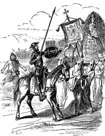 La Procesión de diciplinantes, Jean Ignace Isidore Gérard 1848.