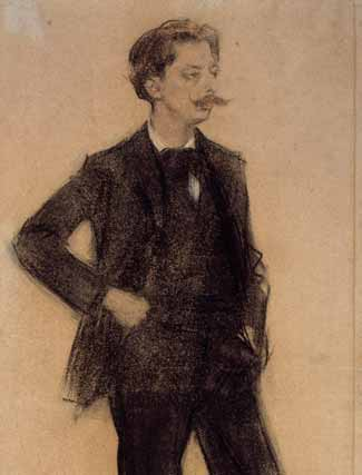 Enrique Granados, por Ramón Casas.