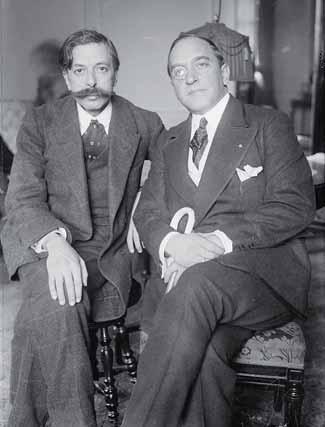 Granados y De Segurola en 1915.