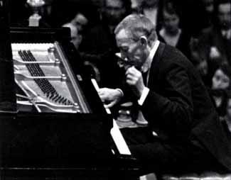 Rajmáninov durante un concierto.