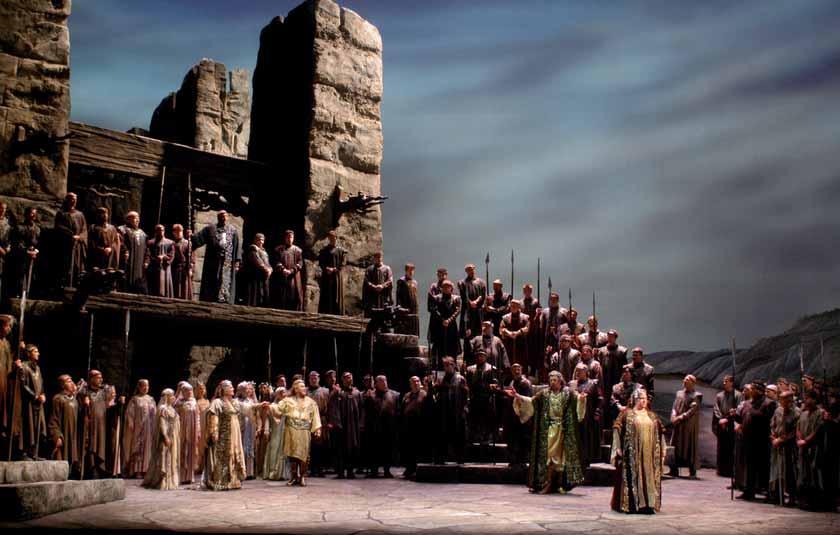 Una escena de la obra en el Metropolitan Opera