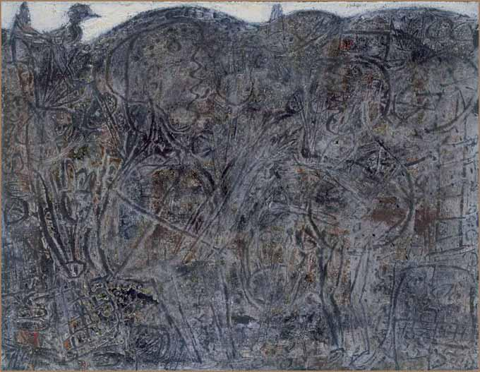 Dialogue aux oiseaux de Jean Dubuffet.