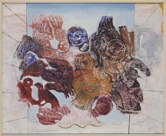 Oiseaux rouges de Max Ernst. Fuente: Museo Reina Sofía.