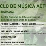 La Sociedad Filarmónica de Badajoz presenta el IX Ciclo de Música Actual