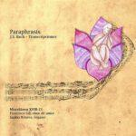 Reseña   Paraphrasis. J. S. Bach – Transcripciones