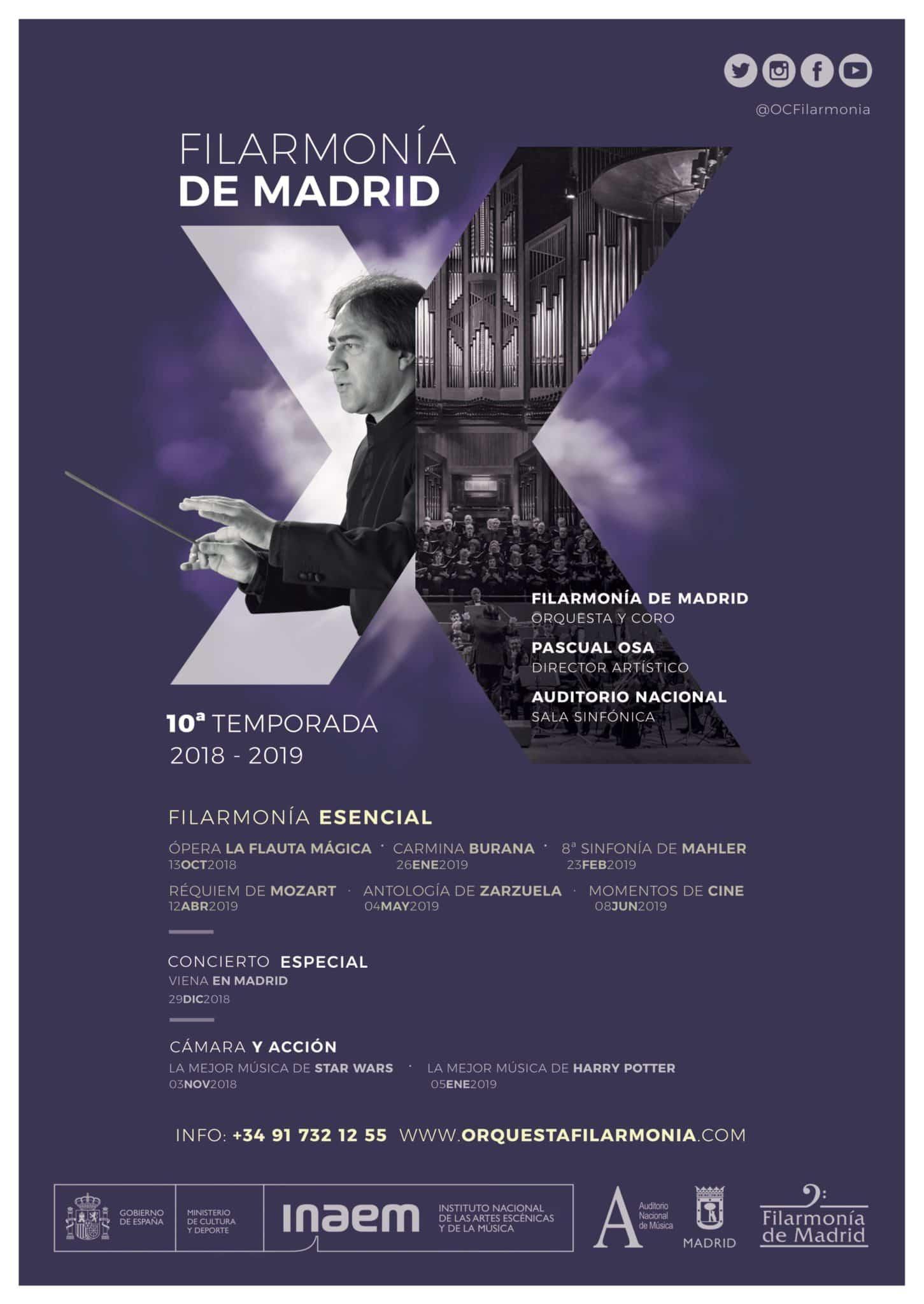 Filarmonía presenta su Temporada Aniversario en el Auditorio Nacional