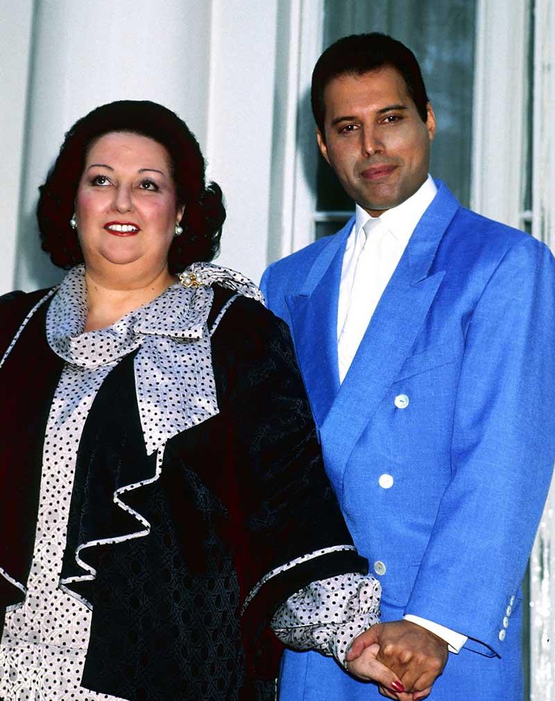 Monserrat Caballé con Freddie Mercury