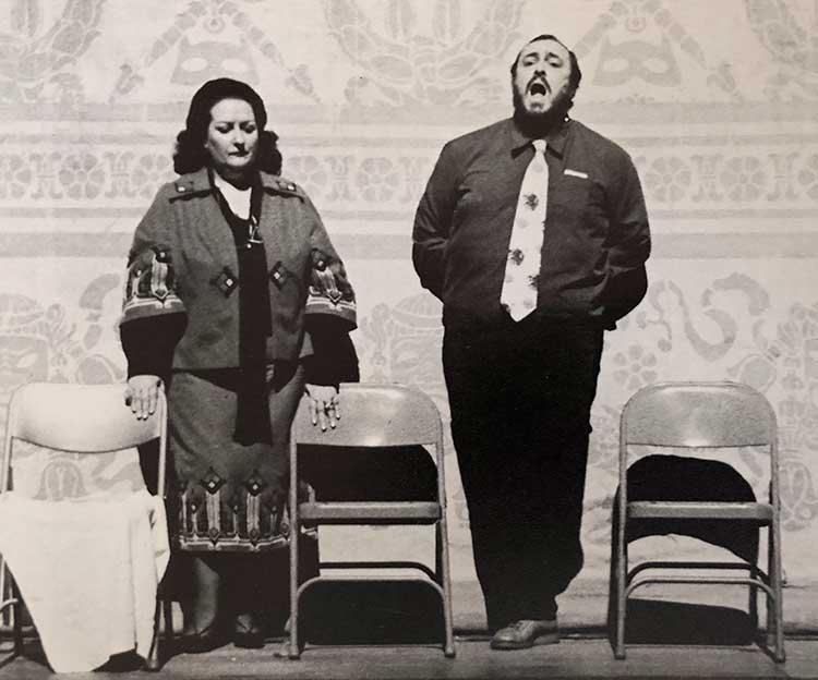 Monserrat Caballé con Luciano Pavarotti