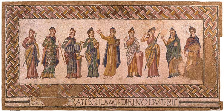 Mosaico de las Musas