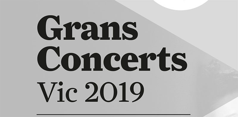Grans Concerts Vic 2019 presenta una programación de grandes figuras internacionales