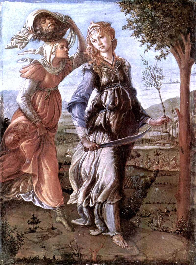 Botticelli, El retorno de Judith a Betulia