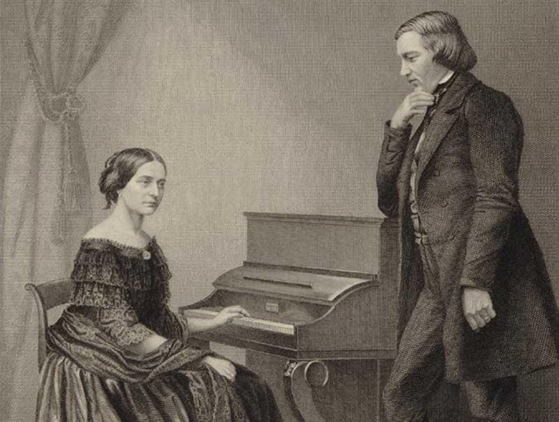 Clara Wieck con Robert Schumann
