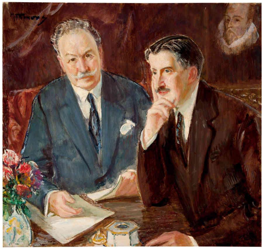 Los hermanos Joaquín y Serafín Álvarez 1 María Rodrigo dirigiendo la Orquesta del Conservatorio de Madrid en 1907 por Maurice Fromkes (ca. 1925)