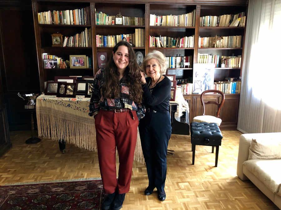 Sara Guerrero y Cecilia Rodrigo en la sede de la Fundación Victoria y Joaquín Rodrigo