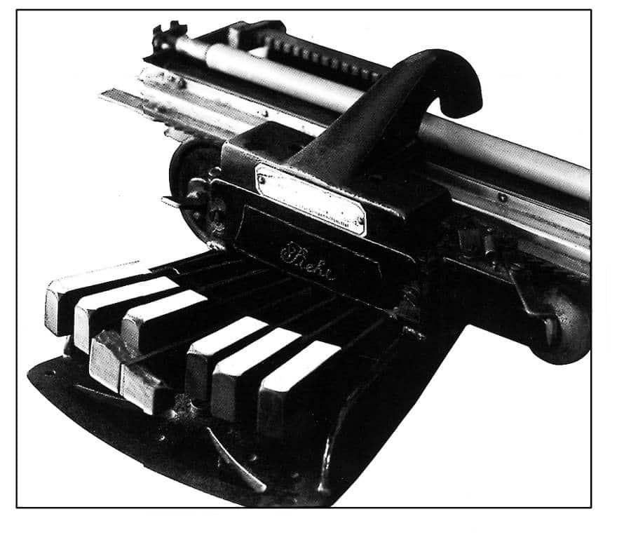 Máquina de escribir en sistema braille que Joaquín Rodrigo usaba para componer