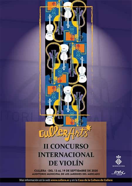 Cartel concurso violín CullerArts 2020