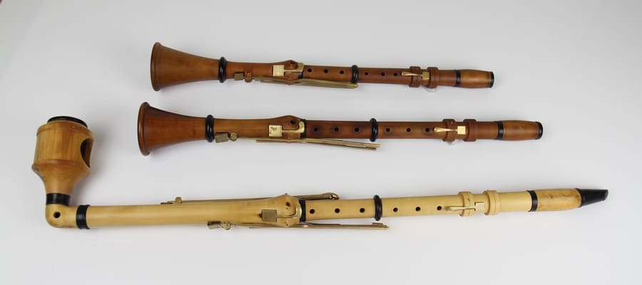 Clarinetes en La, Si y Do construidos por Theodor Lotz