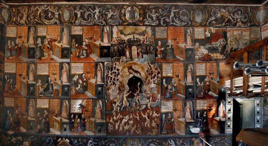 Pinturas al temple del coro del Santuario de la Santa de Totana © Patronato de la Santa de Totana